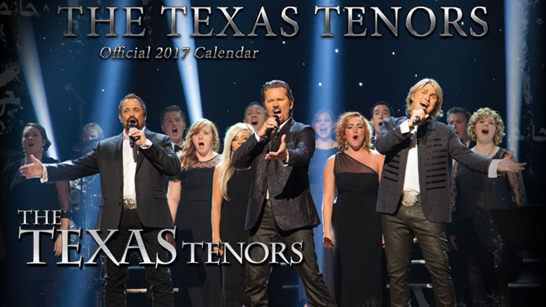 SALE: The Texas Tenors Official 2017 Calendar, New Song & Black Friday 20% Off!