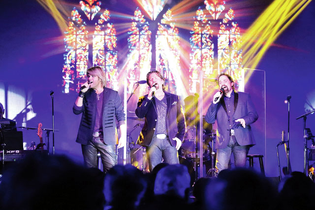 "Provided photo The Texas Tenors perform ""Amazing Grace"" in front of a crowded audience at the Edison Foundation's 19th annual Holiday Evening on Dec. 7."