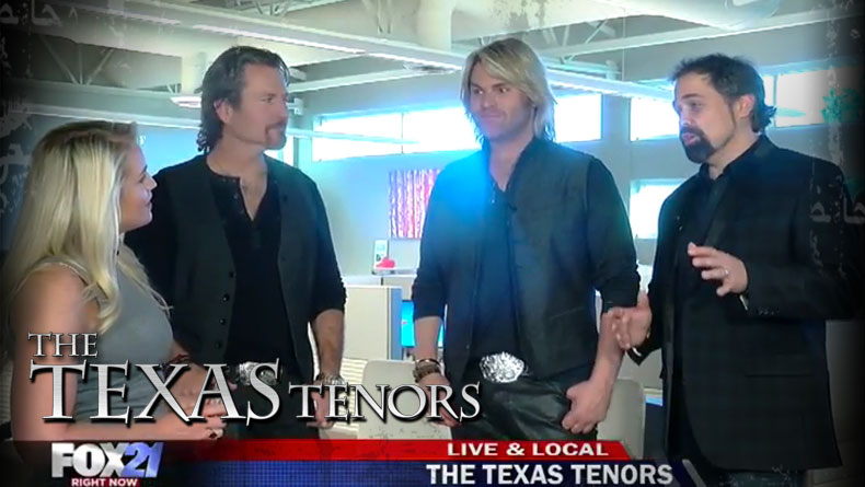 VIDEO:  The Texas Tenors on FOX21 Morning News